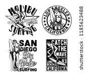vintage labels set with... | Shutterstock .eps vector #1185623488