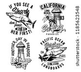 vintage labels set with... | Shutterstock .eps vector #1185623548
