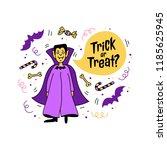 halloween greeting card  trick...   Shutterstock .eps vector #1185625945