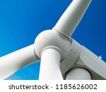 wind mill or also wind turbine... | Shutterstock . vector #1185626002