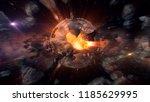 black planet exploding | Shutterstock . vector #1185629995