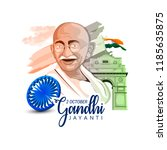 gandhi jayanti or 2nd october... | Shutterstock .eps vector #1185635875