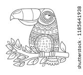 toucan. coloring page... | Shutterstock .eps vector #1185641938
