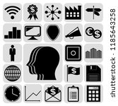 set of 22 business icons or... | Shutterstock .eps vector #1185643258
