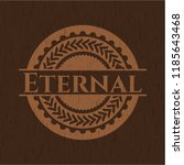 eternal badge with wood... | Shutterstock .eps vector #1185643468