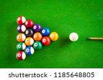 cue aim billiard snooker...   Shutterstock . vector #1185648805