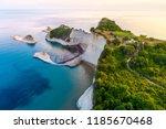 beautiful view of cape drastis... | Shutterstock . vector #1185670468
