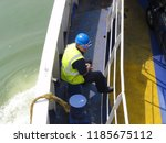 arrival and unloading car ferry ... | Shutterstock . vector #1185675112