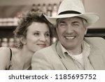 beautiful and femme fatale... | Shutterstock . vector #1185695752