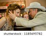 beautiful and femme fatale... | Shutterstock . vector #1185695782