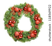 decorative christmas wreath... | Shutterstock . vector #118569922