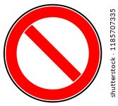 ban. stop. icon. symbol.... | Shutterstock .eps vector #1185707335