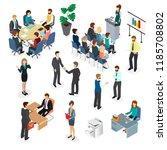 office workers during the... | Shutterstock .eps vector #1185708802