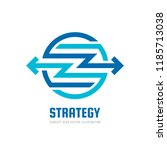 arrows in circle   vector logo...   Shutterstock .eps vector #1185713038
