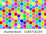 honeycomb many color ... | Shutterstock . vector #1185716155