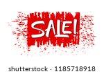 sale grunge banner. hand drawn... | Shutterstock .eps vector #1185718918