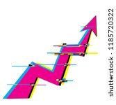 growth graph. symbol graphics.... | Shutterstock .eps vector #1185720322