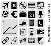 set of 22 business high quality ... | Shutterstock .eps vector #1185726415