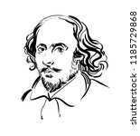 william shakespeare.  vector... | Shutterstock .eps vector #1185729868