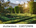 madrid  campo del moro  the...   Shutterstock . vector #1185729898