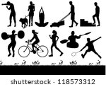 silhouette of people exercising ...   Shutterstock .eps vector #118573312
