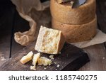 parmesan and pont l'eveque... | Shutterstock . vector #1185740275