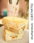 sandwich with a turkey and with ...   Shutterstock . vector #1185749752