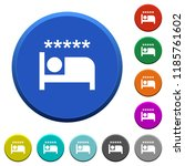luxury hotel round color...   Shutterstock .eps vector #1185761602