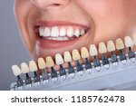 close up of a happy woman... | Shutterstock . vector #1185762478