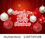 merry christmas and new year... | Shutterstock .eps vector #1185769108