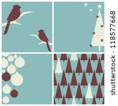 a set of three christmas images ... | Shutterstock .eps vector #118577668