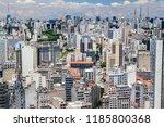 aerial view of sao paulo  brazil | Shutterstock . vector #1185800368