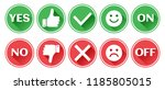 set of red and green icons... | Shutterstock .eps vector #1185805015