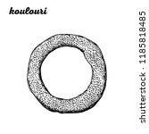 koulouri hand drawn vector... | Shutterstock .eps vector #1185818485