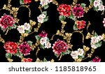 seamless pattern with colorful... | Shutterstock .eps vector #1185818965