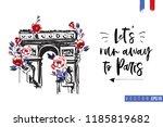 travel paris promo flyer.... | Shutterstock .eps vector #1185819682
