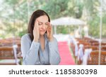 wedding planner woman is... | Shutterstock . vector #1185830398