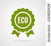 eco medal. vector sign for...   Shutterstock .eps vector #1185832438