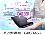 business concept. businessman... | Shutterstock . vector #1185852778