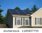 solar panel installed on the... | Shutterstock . vector #1185857755