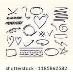 arrow  heart  round star square ...   Shutterstock .eps vector #1185862582