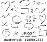 arrow icon set isolated on... | Shutterstock .eps vector #1185862585
