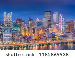 pittsburgh  pennsylvania  usa... | Shutterstock . vector #1185869938