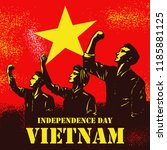 independence day of vietnam ...   Shutterstock .eps vector #1185881125
