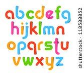 alphabet letters. vector. | Shutterstock .eps vector #118588852