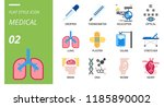 flat style icon pack for... | Shutterstock .eps vector #1185890002