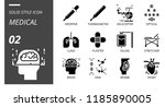 solid style icon pack for... | Shutterstock .eps vector #1185890005