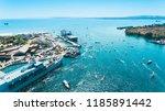 badas harbour in sumbawa ... | Shutterstock . vector #1185891442