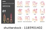gradient style icon pack for... | Shutterstock .eps vector #1185901402