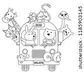 Animals In Bus Vector...